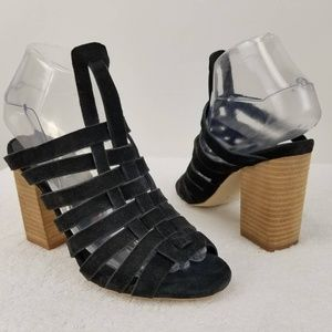 Jeffrey Campbell Caged Sandals Leather 6.5 NWOB